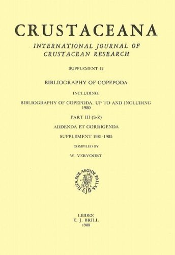 Bibliography of Copepoda Up to and Including 1980: (S-Z), Addenda Et Corrigenda, Supplement 1981-...