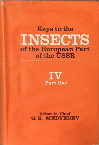 9789004089242: Keys to the Insects of the European Part of the USSR: Lepidoptera, Part 1 (Keys to the Fauna of the Ussr, 117, Part 1)