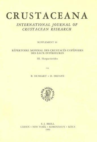 9789004091917: Repertoire Mondial Des Crustaces Copepodes Des Euax Interieures, III Harpacticoides: Harpacticoides