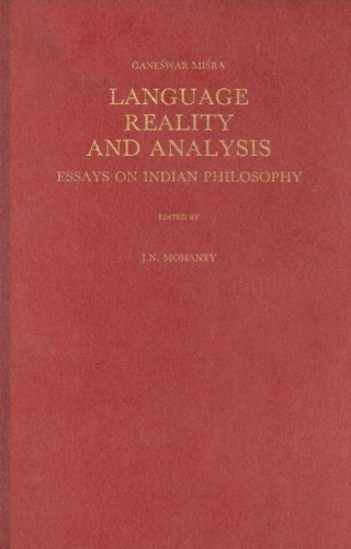 9789004093058: Language, Reality and Analysis: Essays on Indian Philosophy (Indian Thought and Culture, Vol 1)