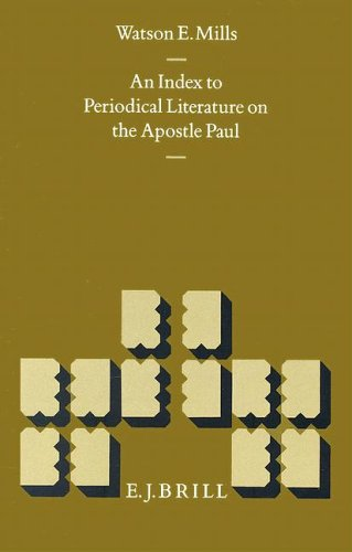 9789004096745: An Index to Periodical Literature on the Apostle Paul (New Testament Tools and Studies)