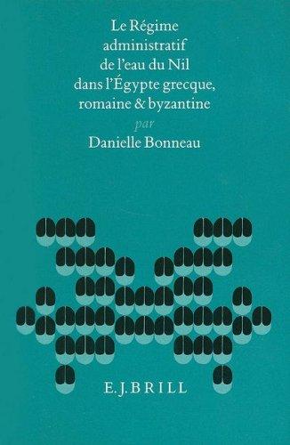 Le régime administratif de l'eau du Nil: Bonneau