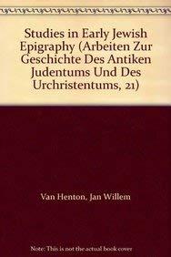 9789004099166: Studies in Early Jewish Epigraphy: 21 (Arbeiten zur Geschichte des Antiken Judentums und des UrChristentums)