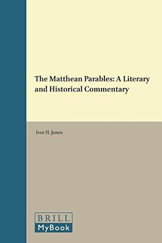The Matthean Parables: A Literary and Historical Commoentary (Hardback): Ivor H Jones, I H Jones, T...