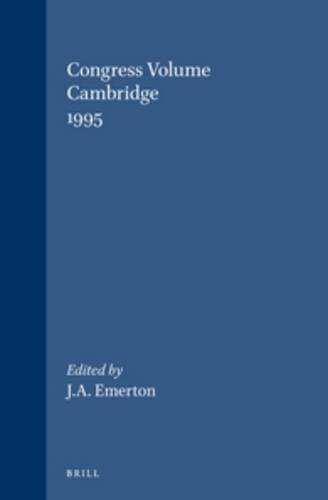 Congress Volume: Cambridge 1995. (Supplements to Vetus Testamentum): EMERTON, J. A. (ed)