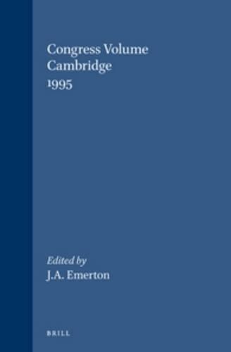 Congress Volume: Cambridge 1995. (Supplements to Vetus Testamentum): EMERTON, J. A. (ed)