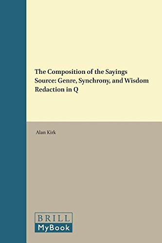 9789004110854: The Composition of the Sayings Source: Genre, Synchrony, and Wisdom Redaction in Q (Supplements to Novum Testamentum)