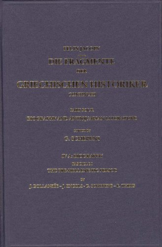 The Biography and Antiquarian Literature, A. Biography, Fasc. 1. The Pre-Hellenistic Period [Nos. ...