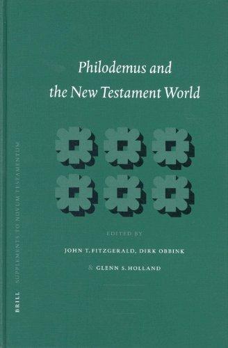 Philodemus and the New Testament World - Fitzgerald, John T.; Obink, Dirk