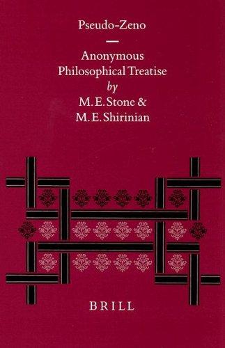9789004115248: Pseudo-Zeno: The Anonymous Philosophical Treatise (Philosophia Antiqua)
