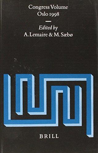 Congress Volume Oslo 1998: Oslo 1998 (Supplements to Vetus Testamentum): Saebo, M.