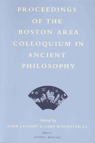 Proceedings of the Boston Area Colloquium in Ancient Philosophy  [Volume 15]. - CLEARY, JOHN J.GARY M. GURTLER [EDS.].