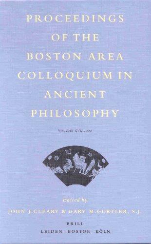 Proceedings of the Boston Area Colloquium in Ancient Philosophy, 2000 (Proceedings of the Boston Area Colloquium in Ancient Philosophy)