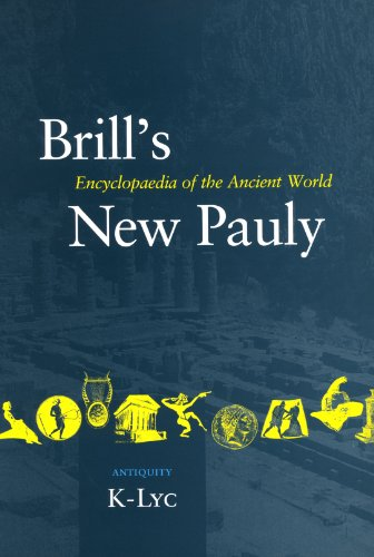 Brill's New Pauly Volume 7 Encyclopaedia of the Ancient World