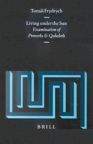 Living Under the Sun: Examination of Proverbs and Qoheleth [Supplements to Vetus Testamentum, Vol. XC] - Frydrych, Tomas