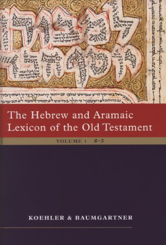 Hebrew and Aramaic Lexicon of the Old: Koehler, L.