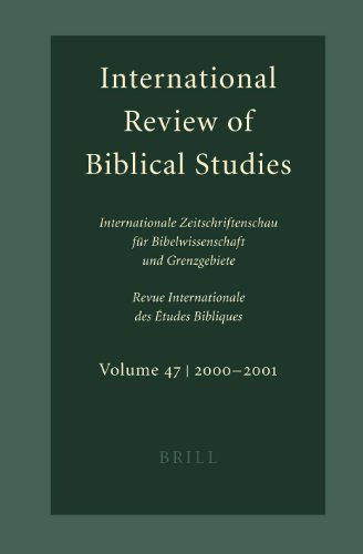 International Review of Biblical Studies. (Vol. 50, 2003-2004) Internationale Zeitschriftenschau ...