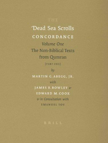 9789004125216: The Dead Sea Scrolls Concordance, Volume 1 (2 Vols): The Non-Biblical Texts from Qumran (Dead Sea Scrolls Concordance, 1) (v. 1) (Multilingual Edition)