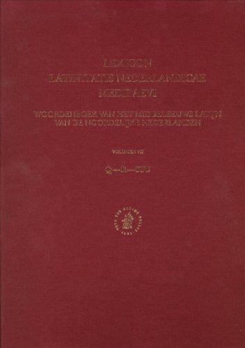 Lexicon Latinitatis Nederlandicae Medii Aevi: Woordenboek Van: Fuchs, Johanne W.,