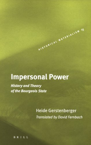 Impersonal Power: History and Theory of the Bourgeois State (Hardback): Heide Gerstenberger