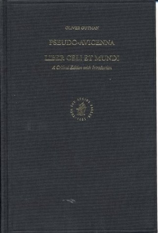 9789004132283: Pseudo-Avicenna. Liber Celi Et Mundi: A Critical Edition with Introduction (Aristoteles Semitico-Latinus) (English, Latin and Arabic Edition)