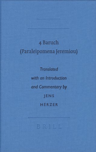 9789004137738: 4 Baruch: Paraleipomena Jeremiou (Writings from the Greco-roman World)