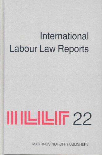 International Labour Law Reports, Volume 22 [Hardcover] [Dec 01, 2003] Gladstone, Alan; Aaron, Benjamin; Sigeman, Tore; Verdier, Jean-Maurice; Wedderburn of Charlton, Lord; Weiss, Manfred and Bar-Niv, Zvi H