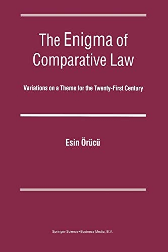 9789004139893: The Enigma of Comparative Law: Variations on a Theme for the Twenty-first Century