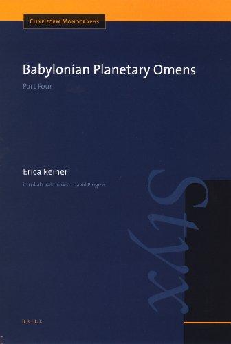 Babylonian Planetary Omens: Part 4 (Hardback): Erica Reiner