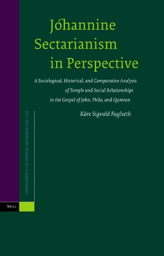 9789004144118: Johannine Sectarianism in Perspective: A Sociological, Historical, and Comparative Analysis of Temple and Social Relationships in the Gospel of John, ... (Supplements to Novum Testamentum (Brill))