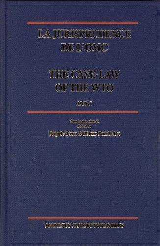 La Jurisprudence de l OMC/The Case-Law of the WTO: 1998-1 (Hardback)