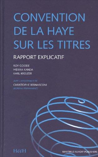 9789004148536: La Convention De La Haye Sur Les Titres