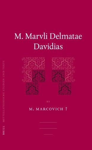 M. Marvli Delmatae Davidias (Hardback): Miroslav Marcovich