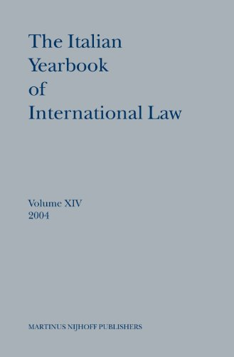 The Italian Yearbook of International Law, 14: Benedetto Conforti