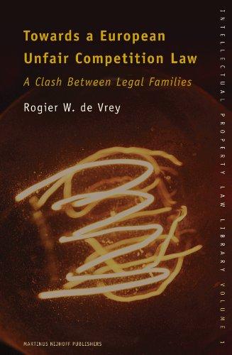 Towards a European Unfair Competition Law: A Clash Between Legal Families (Hardback): Rogier de ...