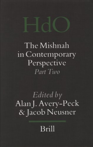 9789004152205: The Mishnah in Contemporary Perspective: Part Two (Handbook of Oriental Studies/Handbuch Der Orientalistik) (Handbook of Oriental Studies: Section 1; The Near and Middle East) (Pt. 2)
