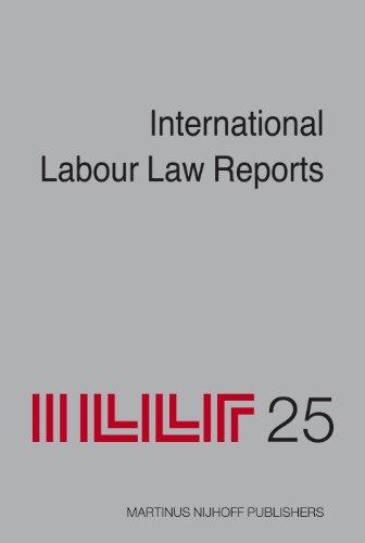 International Labour Law Reports, Volume 25 (Hardback)