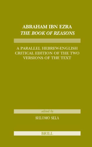 9789004157644: Abraham Ibn Ezra The Book of Reasons (Tudes Sur Le Judasme M'Di'val)