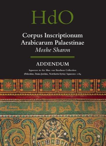 Corpus Inscriptionum Arabicarum Palaestinae, Addendum: Squeezes in: Moshe Sharon