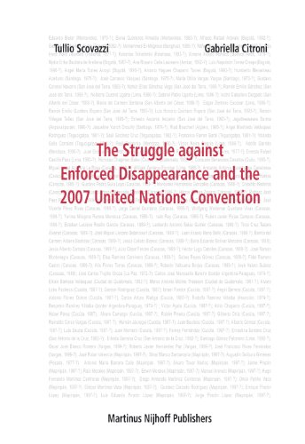 9789004161498: The Struggle against Enforced Disappearance and the 2007 United Nations Convention