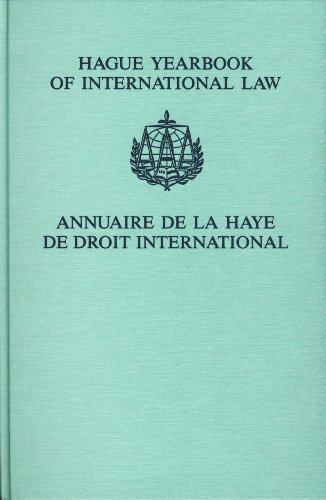 9789004162969: HAGUE YEARBOOK OF INTERNATIONAL LAW/ANNUAIRE DE LA HAYE DE DROIT INTERNATIONAL (Annuaire Aaa/Aaa Yearbook) (Annuaire Aaa/Aaa Yearbook). Volume 19, 2006