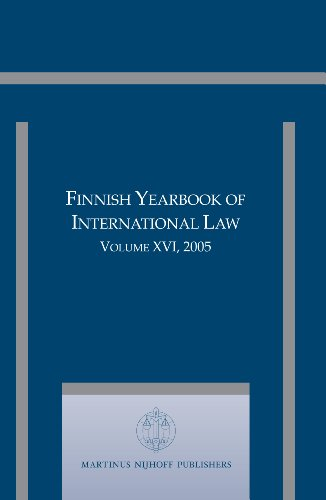 Finnish Yearbook of International Law, Volume 16: EDITOR-IN-CHIEF JAN KLABBERS.