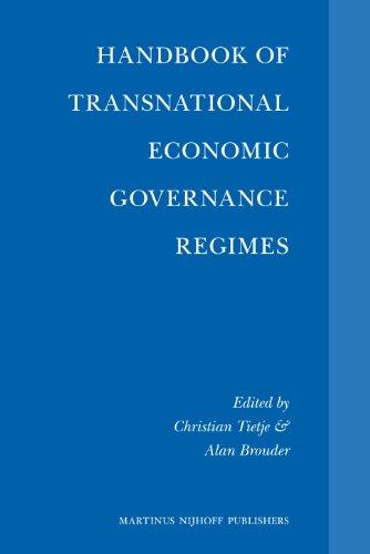 9789004163300: Handbook of Transnational Economic Governance Regimes