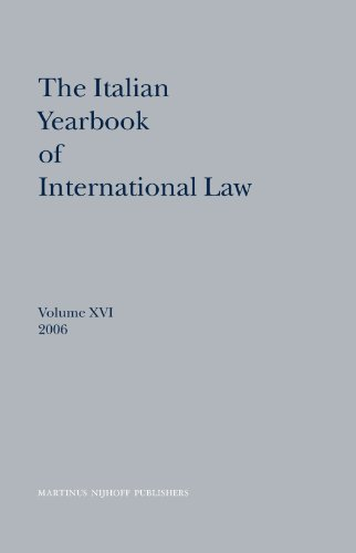 The Italian Yearbook of International Law, 2006