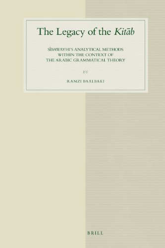 9789004168138: The Legacy of the Kitab: Sibawayhi's Analytical Methods Within the Context of the Arabic Grammatical Theory: 51 (Studies in Semitic Languages & Linguistics)