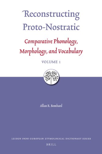 Reconstructing Proto-Nostratic: Comparative Phonology, Morphology, and Vocabulary (Hardback): Allan...