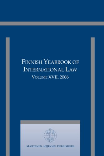 Finnish Yearbook of International Law, Volume 17: Editor-in-Chief Jan Klabbers.