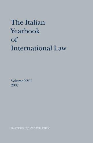 The Italian Yearbook of International Law 2007 (Hardback)