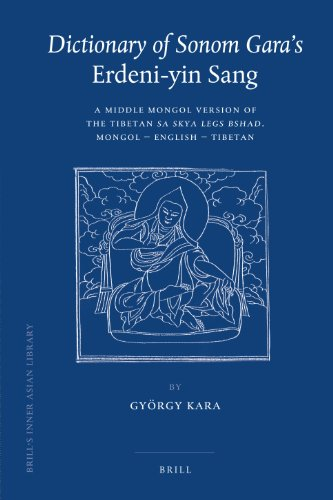 Dictionary of Sonom Gara's Erdeni-yin Sang (Brill's Inner Asian Library) (English and ...