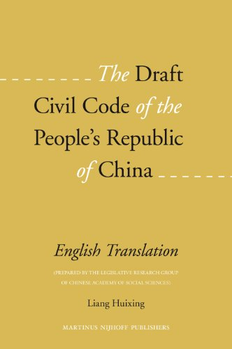 The Draft Civil Code of the People's: Edited by Liang